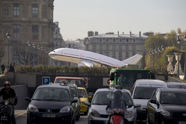 'Plane Landing in Paris' by Aleksandra Mir