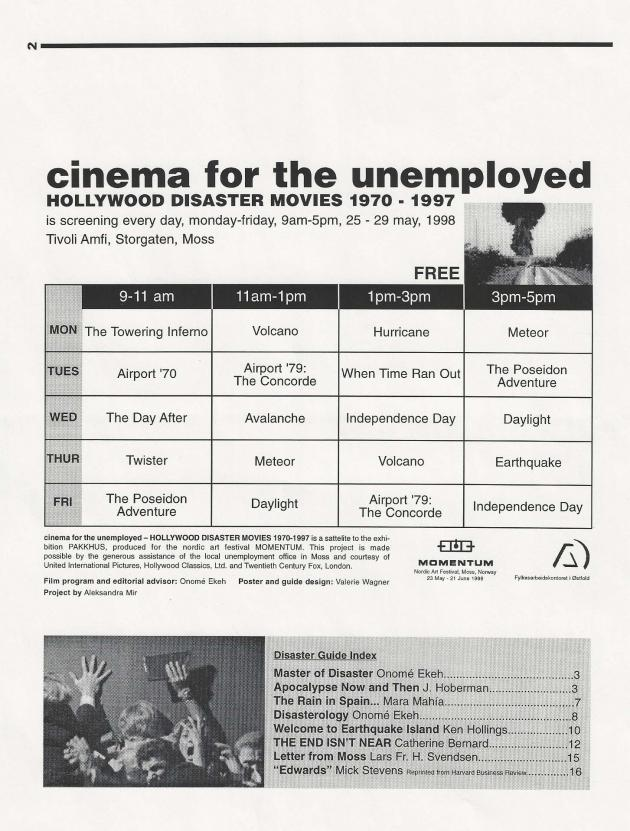 'Cinema for the Unemployed' by Aleksandra Mir