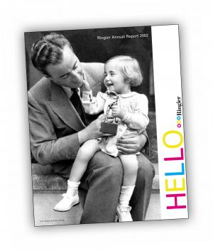 Front cover of 'HELLO Ringier' publication by Aleksandra Mir