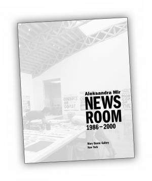 Front cover of 'Newsroom 1986-2000' publication by Aleksandra Mir