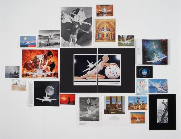 'Plane Landing Collages' by Aleksandra Mir