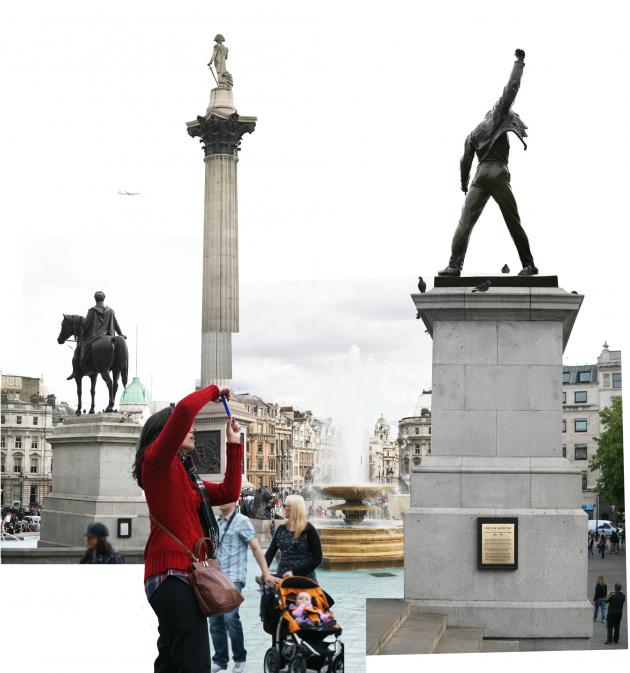 'Freddie on the Plinth - Proposal' by Aleksandra Mir