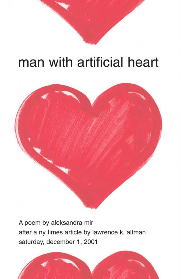 'Man with Artificial Heart' by Aleksandra Mir
